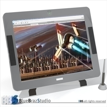 interactive tablet 3d model 3ds dxf c4d obj 103073