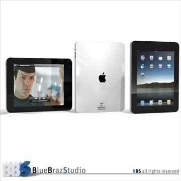 ipad 3d model 3ds dxf c4d obj 111477