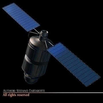 iridium 33 satellite 3d model 3ds dxf c4d obj 101181