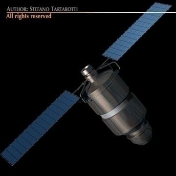 iridium 33 satellite 3d model 3ds dxf c4d obj 101182