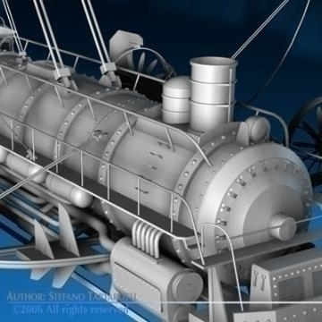j. verne flying train 3d model 3ds c4d obj 77462