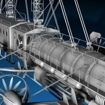 j. verne flying train 3d model 3ds c4d obj 77463