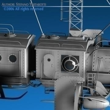 j. verne flying train 3d model 3ds c4d obj 77467