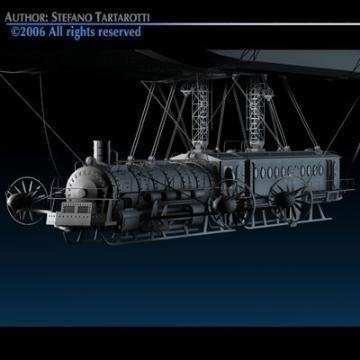 j. verne flying train 3d model 3ds c4d obj 77468
