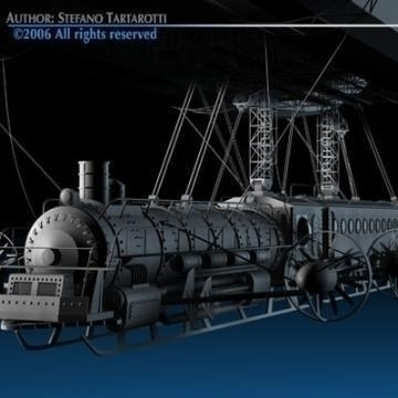 j. verne flying train 3d model 3ds c4d obj 77469