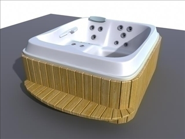 jacuzzi 3d model ma mb obj 82300