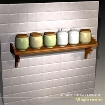 jar rack 3d model 3ds dxf c4d obj 93252