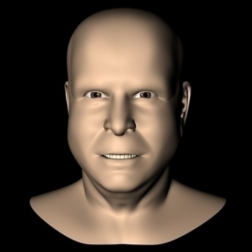 john mccain head.zip 3d model 3ds dxf fbx c4d