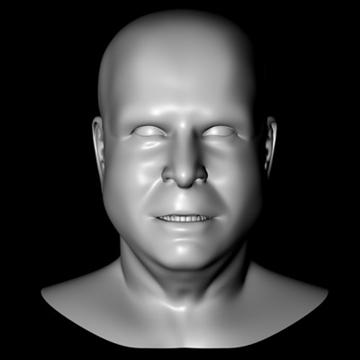 john mccain head.zip 3d model 3ds dxf fbx c4d x obj 109754