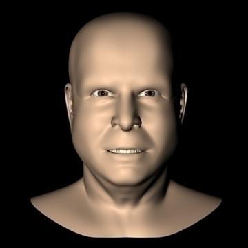 john mccain head.zip 3d model 3ds dxf fbx c4d x obj 109755