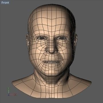 john mccain head.zip 3d model 3ds dxf fbx c4d x obj 109756