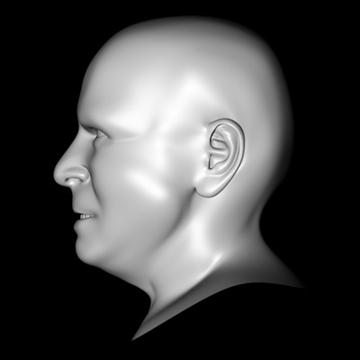 john mccain head.zip 3d model 3ds dxf fbx c4d x obj 109758
