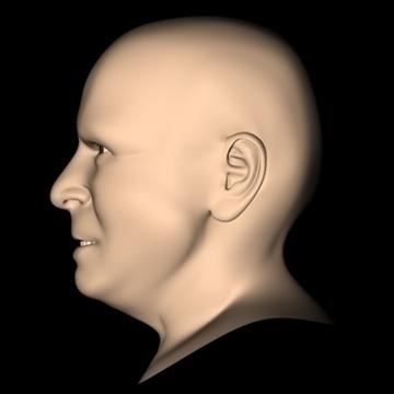 john mccain head.zip 3d model 3ds dxf fbx c4d x obj 109759