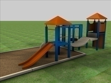 jungle gym 3d model 3ds c4d texture 85073