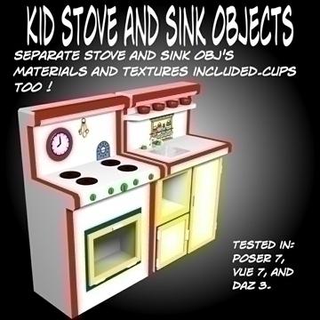 kidstoveandsink.obj 3d модел OBJ 105271