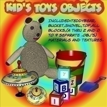 kidtoys.obj 3d model obj 105138