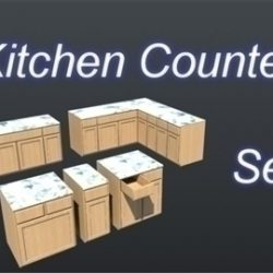 Kitchen Counter Top Set 001 ( 54.84KB jpg by Asephei )