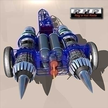 land speed record jet powered car 3d model lwo 81921