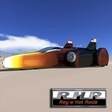 land speed record jet powered car 3d model lwo 81923