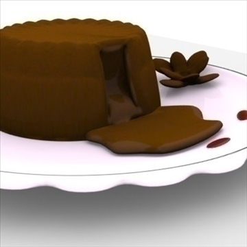 lava cake on plate 3d model fbx lwo obj other 98691