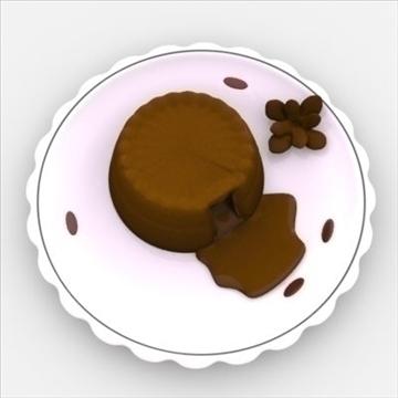 lava cake on plate 3d model fbx lwo obj other 98692