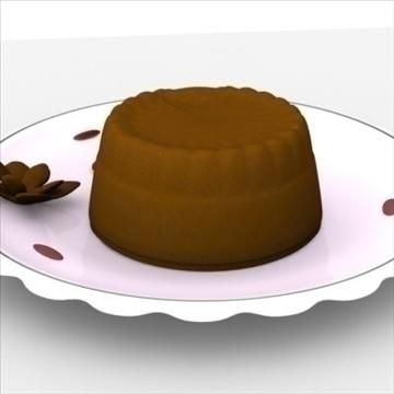 lava cake on plate 3d model fbx lwo obj other 98693