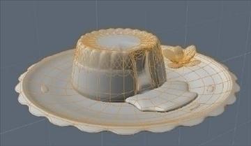lava cake on plate 3d model fbx lwo obj other 98695