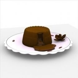 Lava Cake on Plate ( 37.49KB jpg by Randomway )