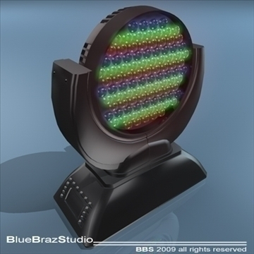 led moving head 3d model 3ds dxf c4d obj 96500