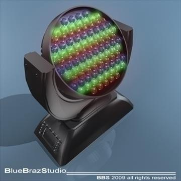led moving head 3d model 3ds dxf c4d obj 96502