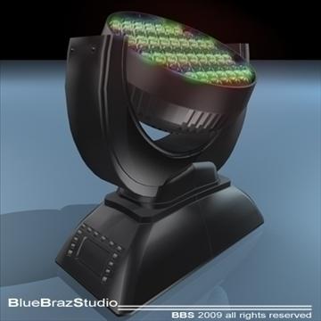 led moving head 3d model 3ds dxf c4d obj 96503