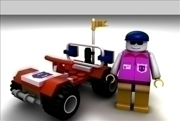 lego auto i vozač model set 3d model 3ds c4d tekstura 109307