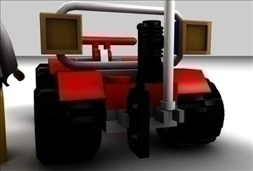 lego car and driver model set 3d model 3ds c4d texture 109310