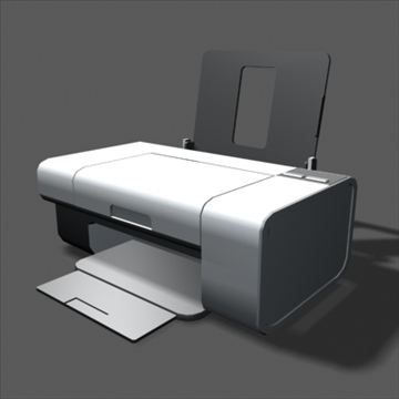 lexmark z735 inkjet printer 3d model max 100645