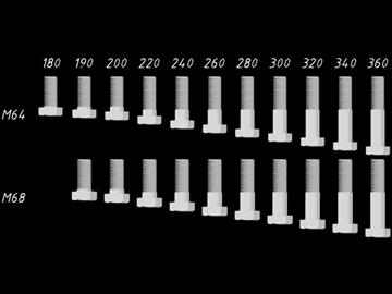 library screws bolts din 931 iso 4014 3d model dwg 108272