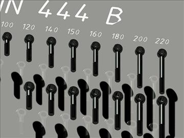 Bókasafn sveifla boltar din 444 autocad 2010 3d líkan dwg 108236