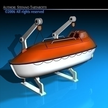 life boat side support 3d model 3ds dxf c4d obj 84724
