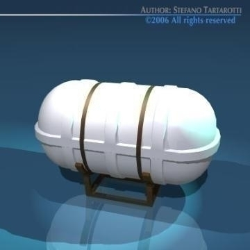 life raft container 3d model 3ds dxf obj 78247