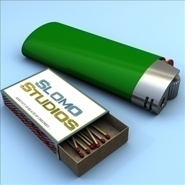 lighter and matchbox 3d model 3ds max fbx lwo obj 106296