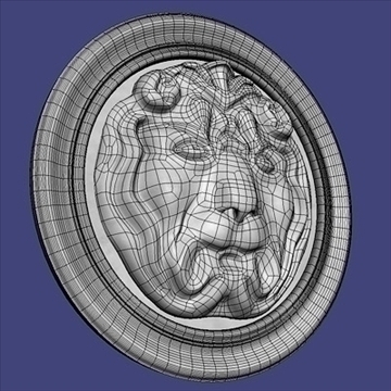 lion basrelief 3d model 3ds max fbx c4d lwo hrc xsi obj 100107