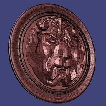 lion basrelief 3d model 3ds max fbx c4d lwo hrc xsi obj 100108