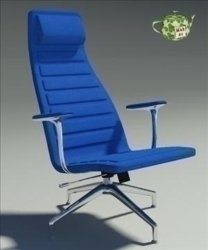 lotus blu fabric armchair 3d model 3ds max fbx obj 109885