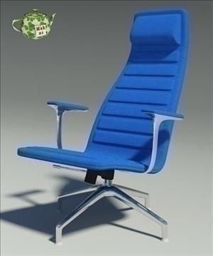 lotus blu fabric armchair 3d model 3ds max fbx obj 109886