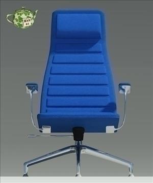 lotus blu fabric armchair 3d model 3ds max fbx obj 109887
