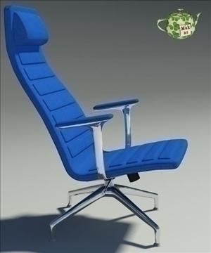 lotus blu fabric armchair 3d model 3ds max fbx obj 109888