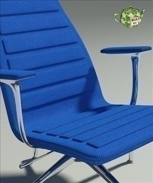 lotus blu fabric armchair 3d model 3ds max fbx obj 109889