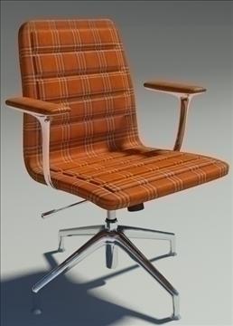 lotus low orange fabric armchair 3d model max dxf fbx obj 92330