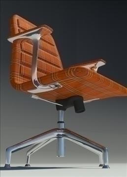 lotus low orange fabric armchair 3d model max dxf fbx obj 92331