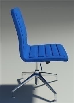 lotus low simple blue fabric armchair 3d model max dxf fbx obj 92458