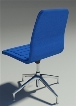 lotus low simple blue fabric armchair 3d model max dxf fbx obj 92459